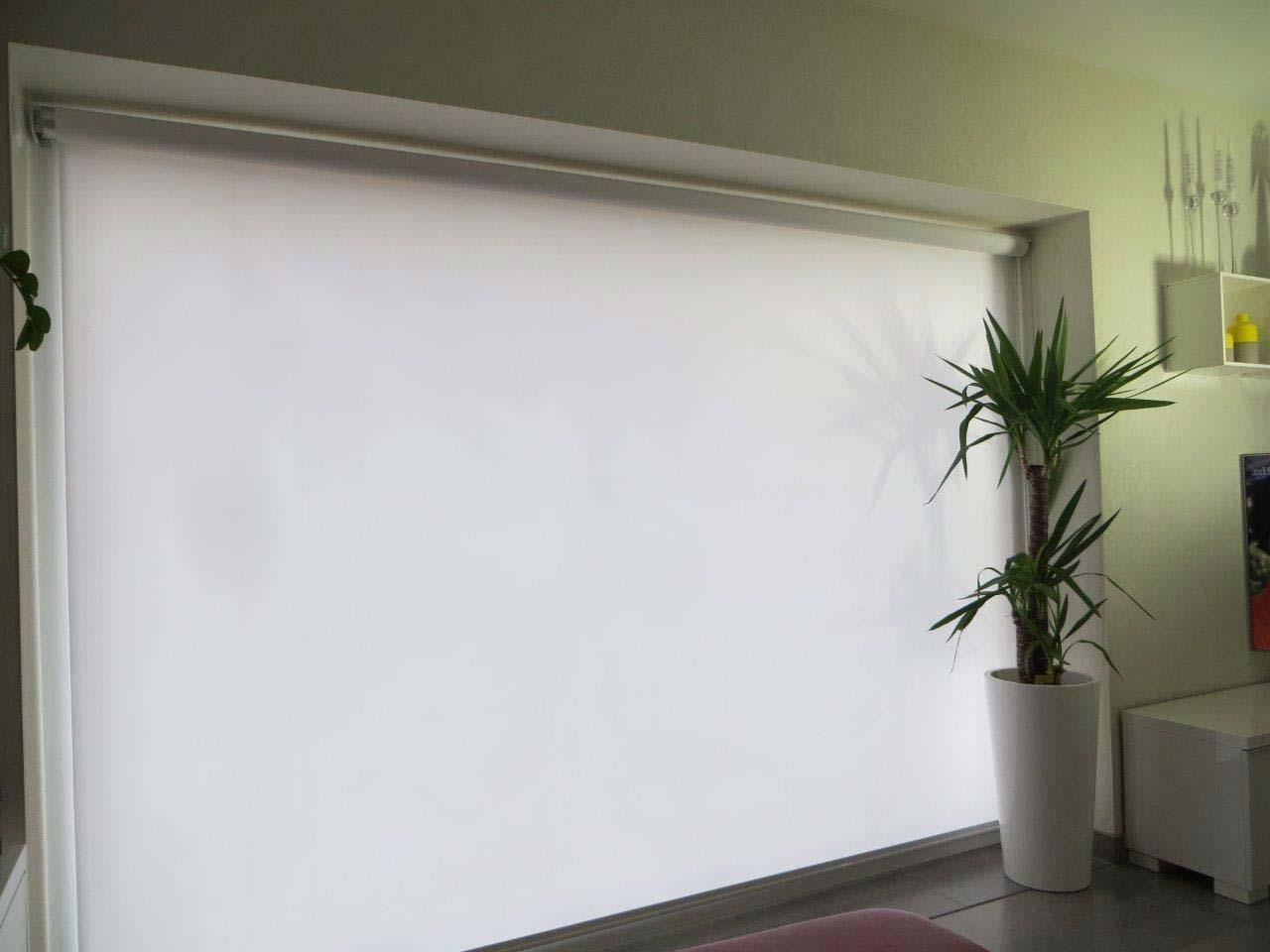 weißer Sicht- und Schallschutzscreen