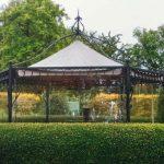 Wetterschutz Pavillon seitlich