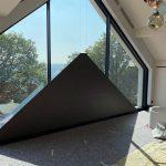 Textilscreens für schräge Fenster